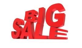 Großer Verkauf des roten Zeichens Lizenzfreies Stockbild