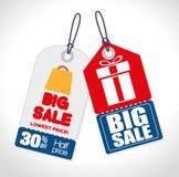 Großer Verkauf etikettiert Geschenkrabatte stock abbildung