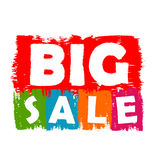Großer Verkauf gezeichneter Aufkleber Stockbild