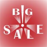 Großer Verkauf mit Ausrufezeichen Stockbilder