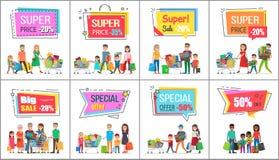 Großer Verkauf mit Super Prise für Großhandelskäufe lizenzfreie abbildung