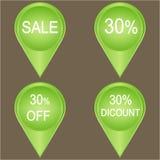 Großer Verkauf 30-Prozent-Ausweis Lizenzfreie Stockfotos