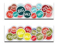 Großer Verkaufs-Hintergrund stock abbildung