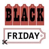 Großer Verkaufsvektor Black Fridays stockfoto