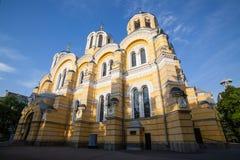 Großer Vladimir Cathedral in Kyiv - eins der Stadt ` s Majorsmarksteine und der Mutterkathedrale der ukrainischen orthodoxen Kirc stockbild
