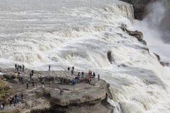 Großer Wasserfall in Island Stockfoto