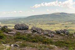 Großer Weg durch die Spuren von Minas in Lavalleja lizenzfreies stockfoto