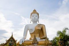 Großer weißer Buddha Stockfoto