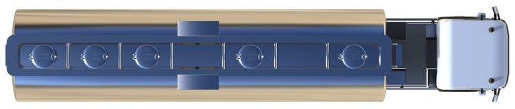 Großer weißer LKW-Tanker mit einem Poliermetallanhänger Ansichten von allen Seiten Abbildung 3D Lizenzfreie Stockfotos