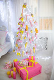 Großer Weihnachtsbaum Lizenzfreies Stockbild