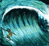 Großer Wellensurfer Stockfotos