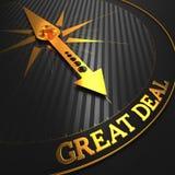 Großes Abkommen. Geschäfts-Hintergrund. Stockfotos