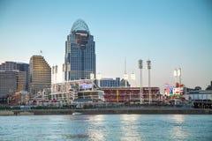 Großes amerikanisches Baseballplatzstadion in Cincinnati stockbild