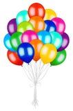 Großes Bündel bunte Ballone lizenzfreie abbildung