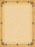 Großes beflecktes altes Papier mit dekorativen Verzierungen Lizenzfreies Stockfoto