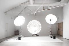 Großes Berufsfoto-Studio Stockbild