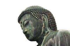 Großes bhudda in Kamakura lokalisierte Gesicht stockfotos