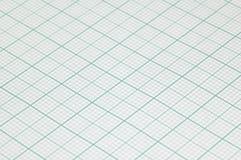 Großes BlattZeichenpapier mit Maßeinteilung Stockfotos