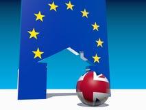 Großes briitain verlässt Metapher der Europäischen Gemeinschaft Stockfotografie