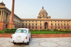 Großes britisches Gebäude in Neu-Delhi. Indien. lizenzfreie stockfotografie
