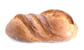 Großes Brot gesetzt auf weißen Hintergrund Lizenzfreies Stockbild