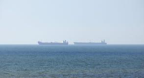 Großes Containerschiff lizenzfreies stockbild