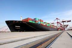 Großes Containerterminal lizenzfreie stockfotografie