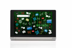 Großes Datenkonzept und binär Code-Dezimalzahlnidee lizenzfreie stockfotografie
