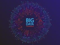 Großes Datensichtbarmachungskonzept-Vektordesign stockfoto