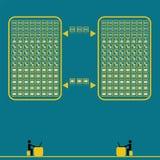 Großes Datentechnologie-Konzept idease mit Weinlesefarbe Lizenzfreie Stockbilder