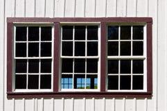 Großes dreifaches Fenster Stockbild