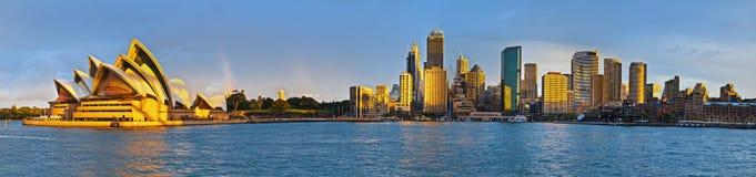 Großes Extrapanorama des Sydney-Kreiskais Stockbild