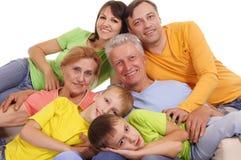 großes Familienportrait Lizenzfreie Stockfotografie