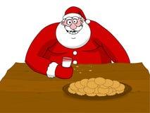 Großes fettes Weihnachtsmannessen stock abbildung