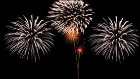 Großes Feuerwerk Stockbild