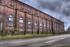 Großes Gebäude der Bergwerkgruben-roten Backsteine Stockfoto