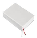 Großes geschlossenes weißes Buch Stockfotografie