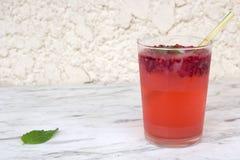 Großes Glas Erdbeere-mojito Lizenzfreie Stockfotografie