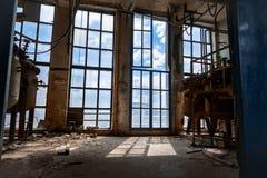 Großes glas Fenster Stockfotografie