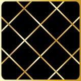 Großes Golddiagonale Linien, schwarzer Hintergrund stock abbildung