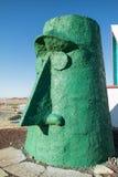 Großes grünes tiki, Straßenrandkunst Lizenzfreies Stockbild