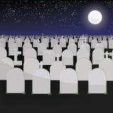 Großes Grab haben Gräber des Vektors Lizenzfreies Stockfoto