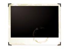 Großes grunge Polaroid Stockfoto