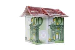 Großes Haus des Euro-hundert und 10 Lizenzfreie Stockfotografie