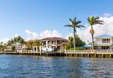 Großes Haus im Fort Lauderdale Stockfoto