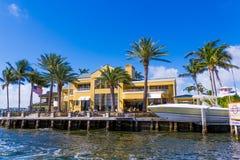 Großes Haus im Fort Lauderdale Stockbild