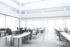 Großes, helles modernes Büro Stockfoto