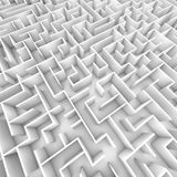 Großes helles Weiß ummauertes Labyrinth von den Unkosten stock abbildung