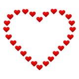 Großes Herz mit kleinen roten Herzen Stockbild