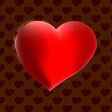Großes Herz mit Schokoladenhintergrund Stockbild